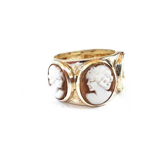 Bang cameos ring antique profiles cameo ring silver cameos donadio italian shell cameos gift for women anniversary gift shell cameo jewelry