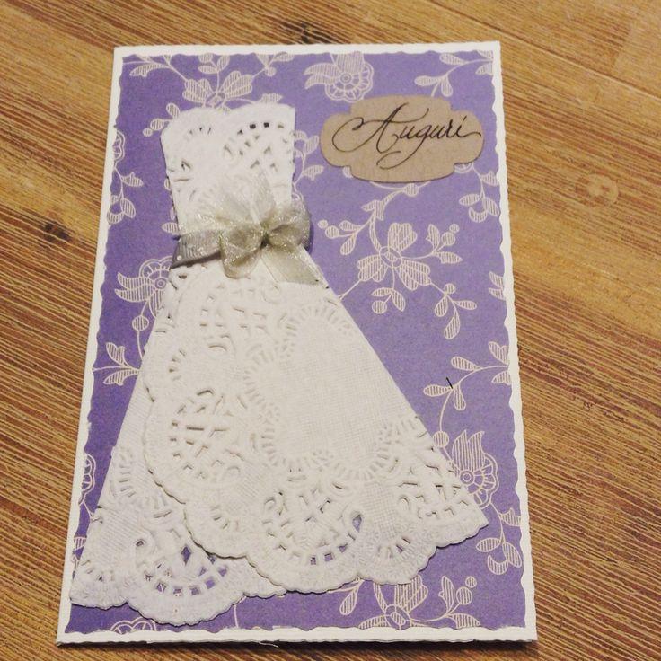 Biglietto auguri per Matrimonio - Biglietti fatti a mano - Wedding card - Handmade  www.rossomarte.com