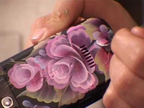 One Stroke painting - paint your phone - not in English but you will understand the method.