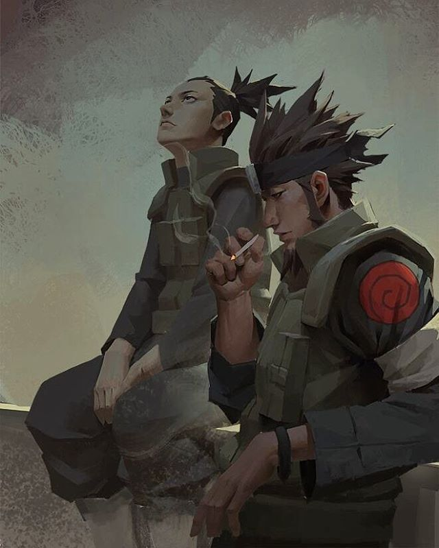 Shikamaru and Asuma