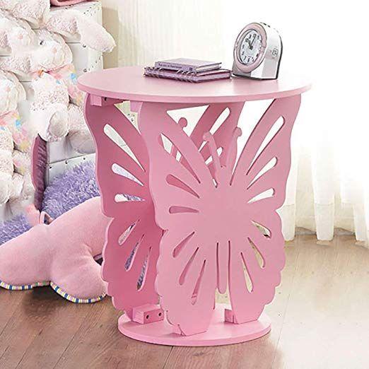 Kinder Holz Tisch Schmetterling In Weiss Oder Rosa Dieser Tolle Beistelltisch Im Schmett Schmetterlingszimmer Schmetterling Schlafzimmer Kindertisch Und Stuhle