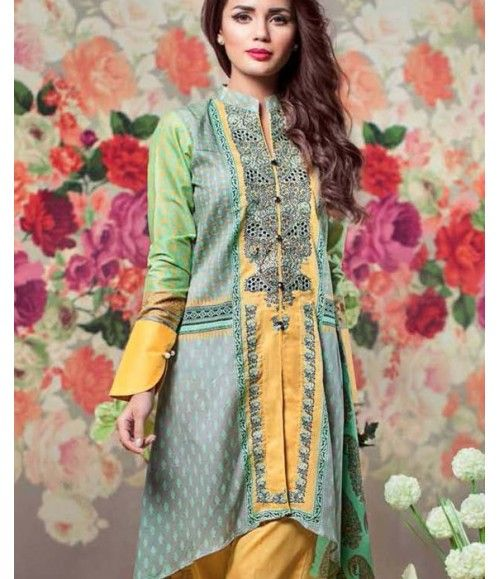 Feminine Embroidered Lawn Collection 2016 FEM_06B