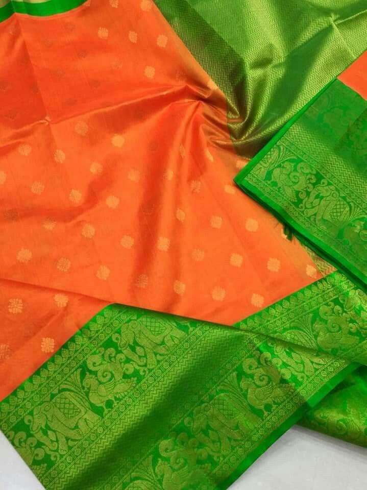 d76b2931818fc Latest Kuppadam Silk Sarees with Silver gold Jari Borders   Buttas    Contrast Rich Pallu   Contrast Plain Blouse   Price 7600 Order what s app  7995736811