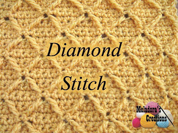 Learn how to crochet the diamond stitch with this photo and written tutorial along with a left and right-handed video tutorial.