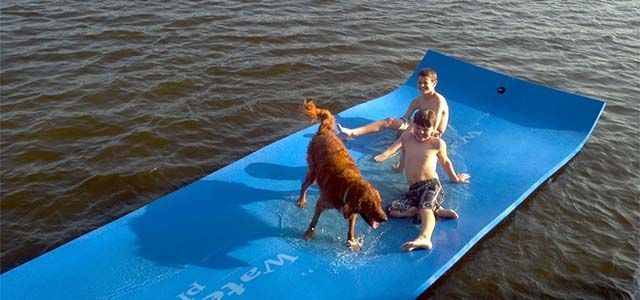 Floating Water Mat... Definitely useful for people who can't swim