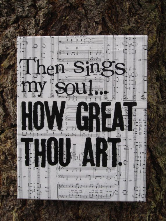 11x14 How Great Thou Art  Timeless hymn vintage sheet by Houseof3, $35.00