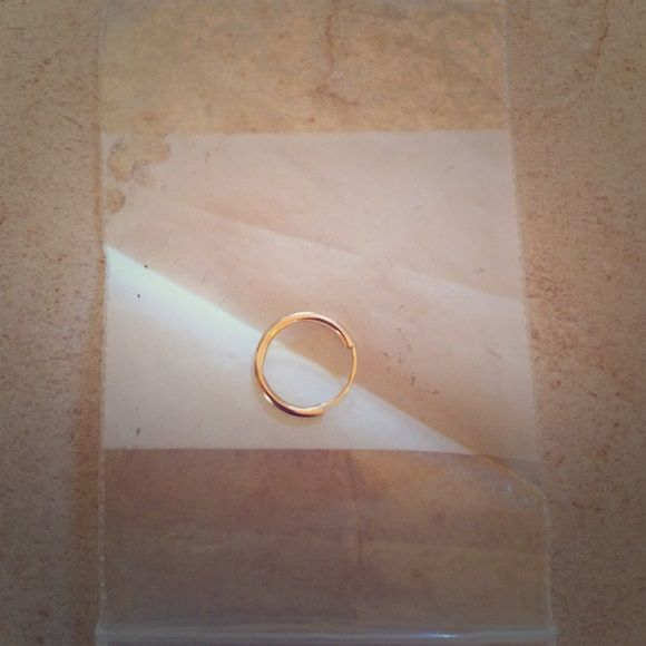 Gold hoop nose ring Gold plated hoop nose ring Jewelry