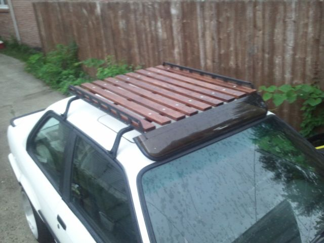 wood wooden roof rack car diy home made homemade