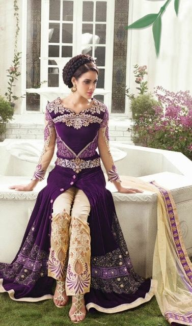 """Latest Velvet Embroidered Bridal Long Shirts 2015.Presently this time we have propelled new accumulation of Latest Velvet Embroidered Bridal Long Shirts Designs 2015""""."""