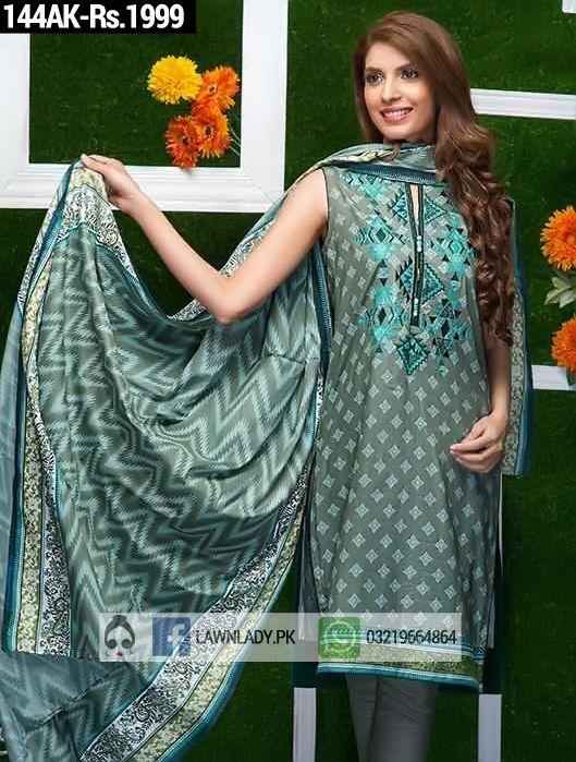 Alkaram Replica Lawn Online 2016 Design 144AK