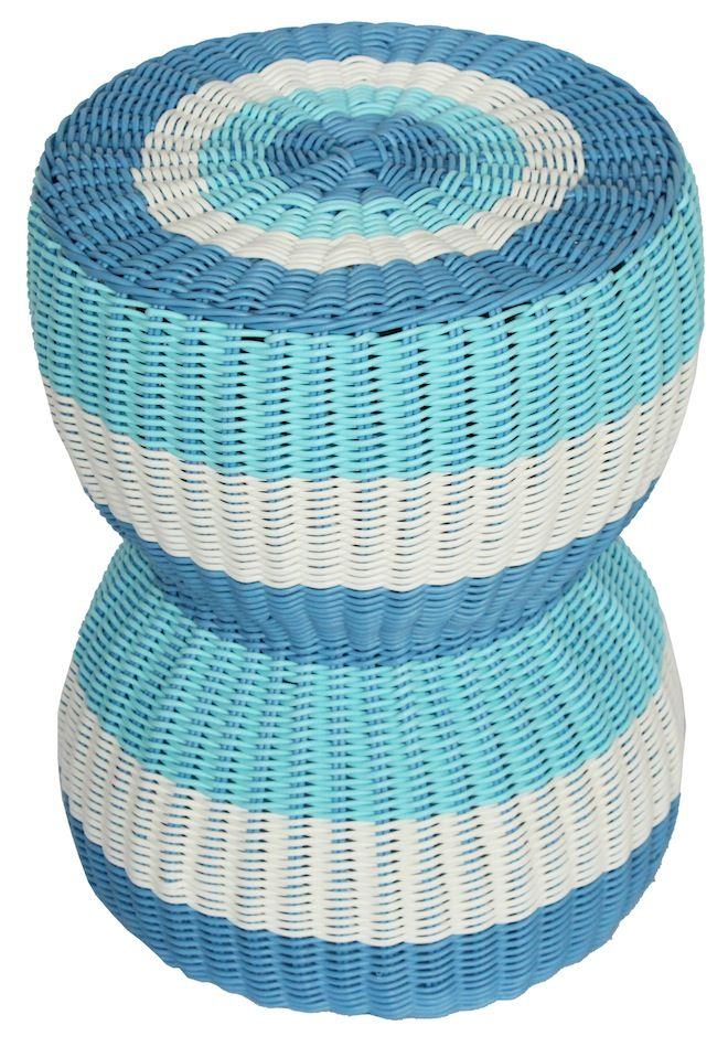 NEW IN: Handwoven hourglass rattan stools - waterproof! From $100RRP AUD.  http://www.philbee.com.au/decor/outdoor-indoor-waterproof-hand-woven-rattan-stool.html