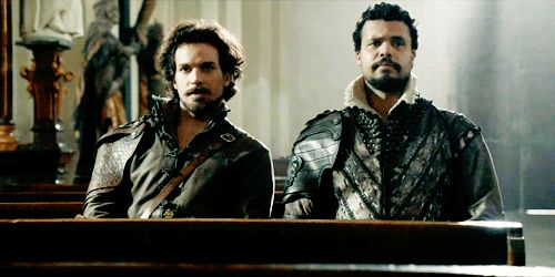 """I'm not obsessed with The Musketeers. Not in the least."" <--- haha great gif for that statement <3"