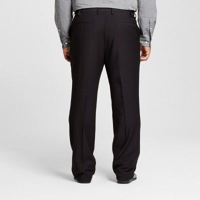 Men's Big & Tall Classic Fit Suit Pants - Merona Black 54x30