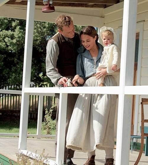 "First still of #MichaelFassbender and #AliciaVikander together in ""The light between oceans"" (source: allaboutaliciavikander)"