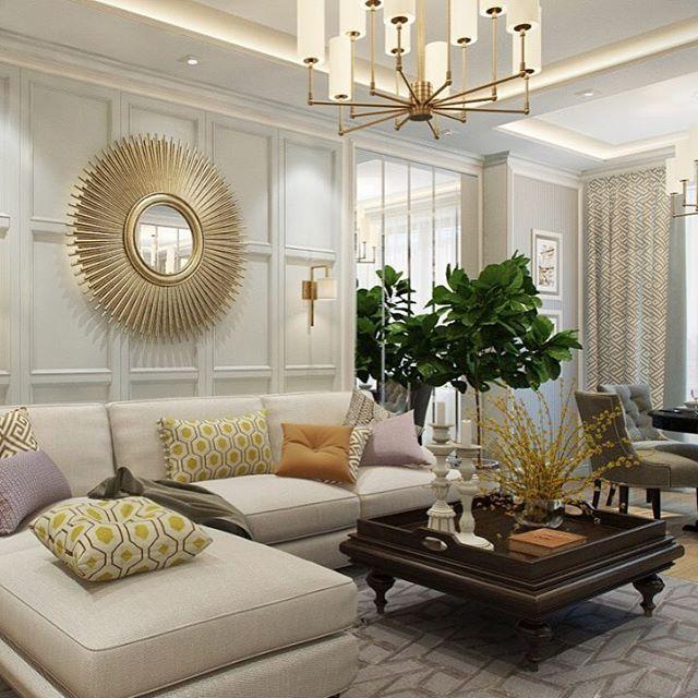 Ещё один ракурс #диана_тараканова_квартира135метров_москва_наследие уютной гостиной для дружной семьи) зеркала расширяют пространство и дают сложность, а зелень всегда оживляет и радует 😉🌿 #диана_тараканова #дизайнгостиной