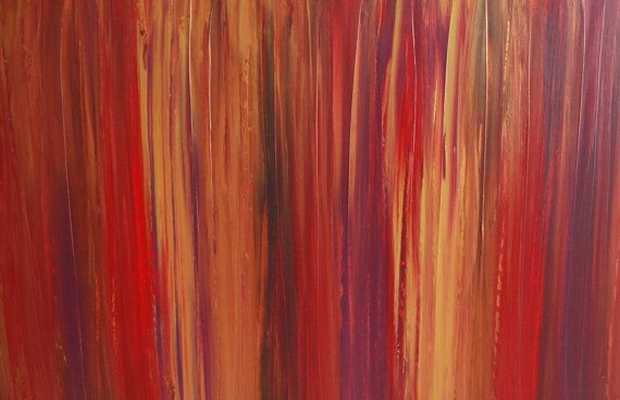 XL Modern Art Contemporary Original Abstract Red Painting