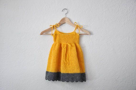 SUMMER SALE Baby Sun Dress Yellow Summer by courtneyannabanana, $40.00