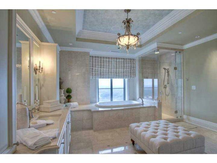 Elegant master bath dream home decor pinterest for Elegant master bathroom designs