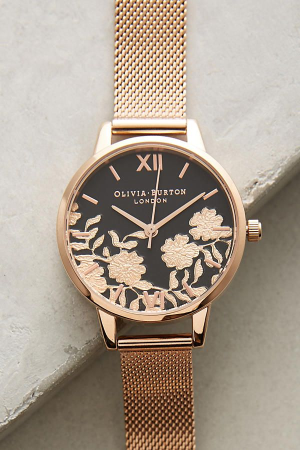 Laced dial watch