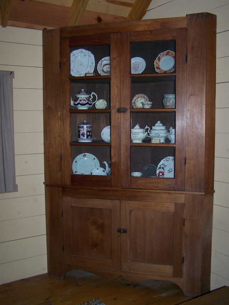 A Rare Zoar Corner Cabinet On Display In The Cabin Of The Street Of Shops At