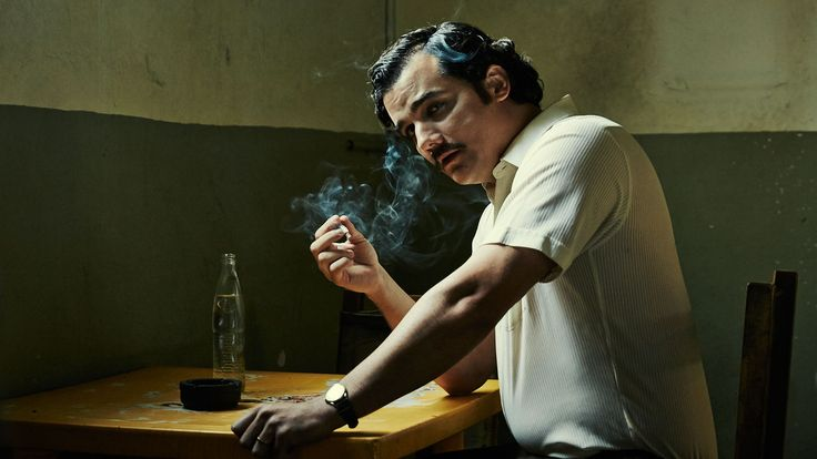 Still of Wagner Moura as Pablo Escobar in new Netflix original series, Narcos  http://troublewithfilm.com/youre-tearing-me-apart-spielberg-the-week-in-review/