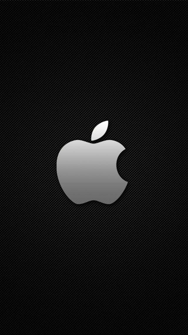 Apple Logo Carbon Grid Cool iPhone 5 Wallpaper
