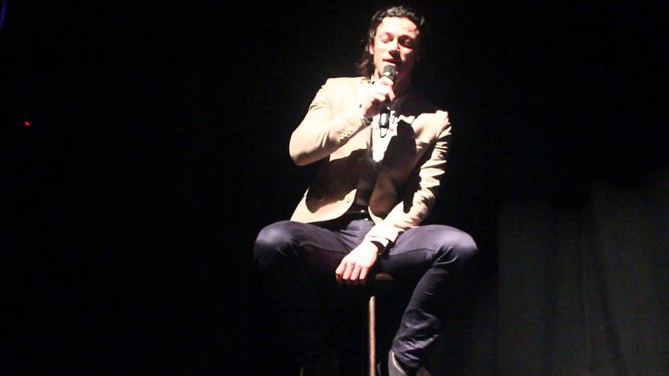 OMG!!!! :')  Luke Evans singing 'The first time I saw your face' by Roberta Flack at the Lyric Theatre, Belfast - 22/09/2013