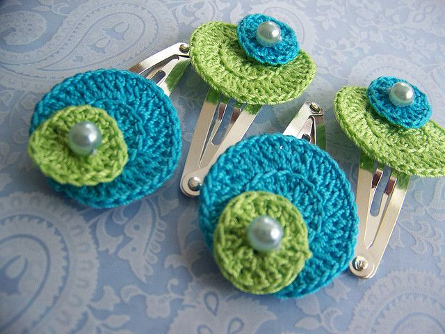 Crochet Hair Clip Ideas : ideas about Crochet Hair Clips on Pinterest Hair Clips, Crochet Hair ...