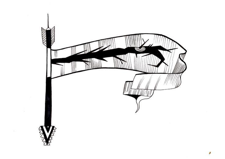 Modal Scarf - CMYK CROSSHATCHING by VIDA VIDA J5n3T933Ay