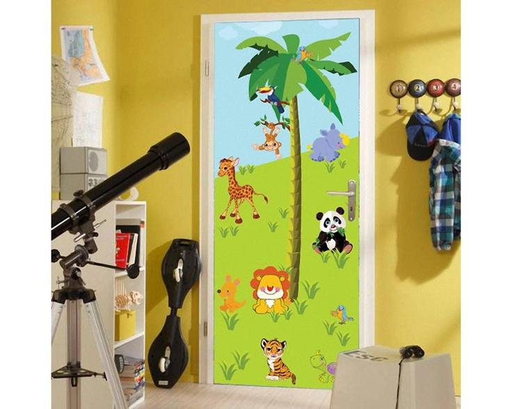 Ζωάκια της ξηράς ,αυτοκόλλητο πόρτας, ντουλάπας