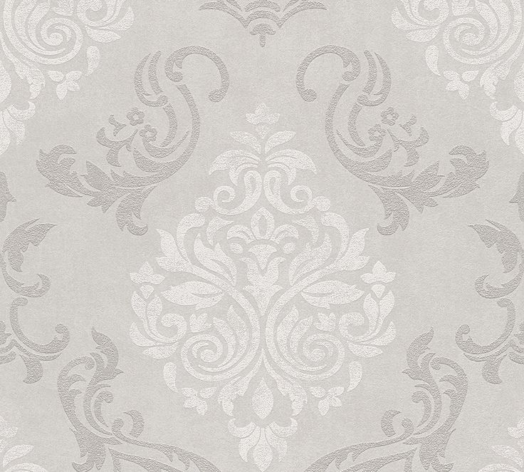 Vliestapete Barock Glitzer AS Creation taupe weiß 95372-1