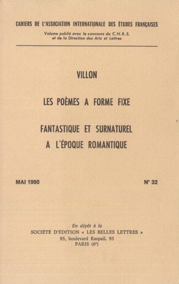 """""""Le lyrisme en rond. Esthétique et séduction des poèmes à forme fixe au Moyen-Age"""" by Michel ZINK, in 'Cahiers de l'Association internationale des études francaises', Nº 32 (1980), pp. 71-90."""