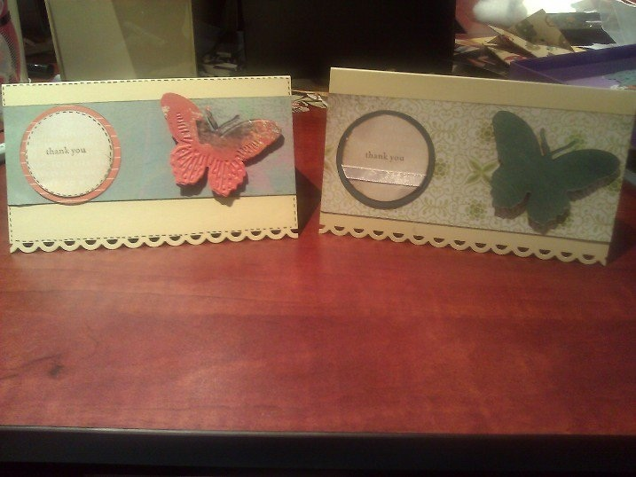 Using scraps and the sizzix butterfly sizzlet