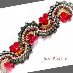 how to make  Fire Dragon Dance bracelet.  (Translate) ~ Seed Bead Tutorials