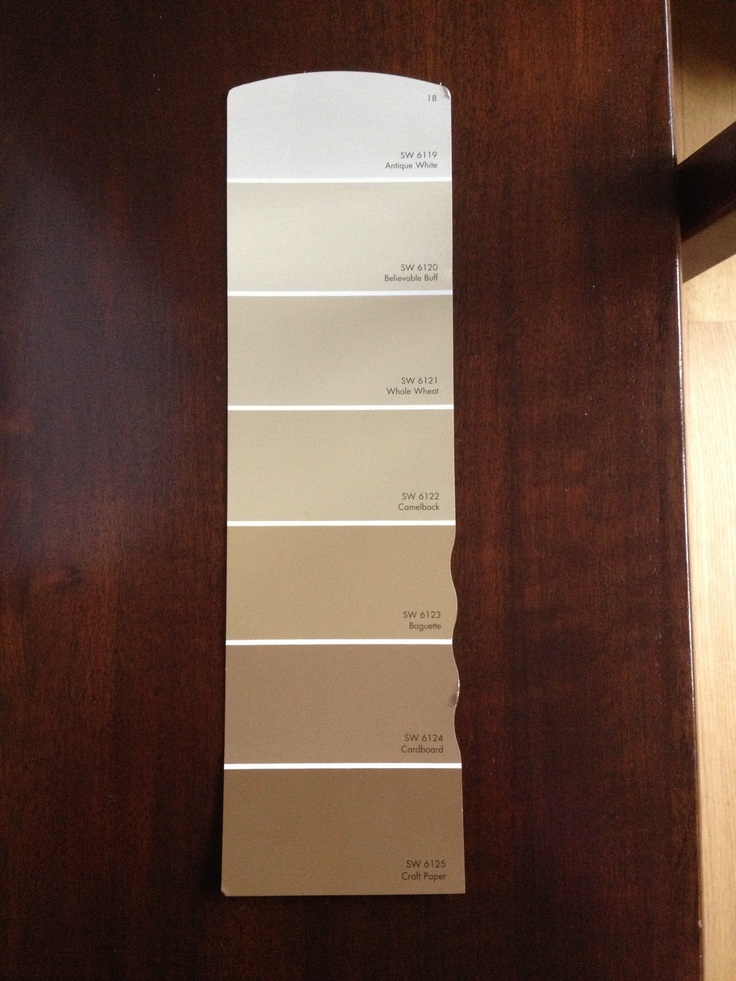 Beige Paint Sw Beige Swatch 18 Antique White Sw 6119