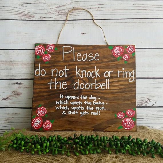 Do not knock sign Sleeping baby sign new mom gift baby shower gift No Solicitation Do not disturb Door Sign No Soliciting Sign by ThePeculiarPelican #etsyseller #etsyshop #woodensigns #customsigns #shopsmall #shopping #gifts #giftideas #porchsigns #weddingsigns #southernsigns #quotes #handmade #handpainted #signs http://ift.tt/2ptY5or