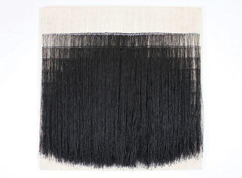 Sofie Dawo -- 1973, waxed thread on cotton, 69 × 69 cm