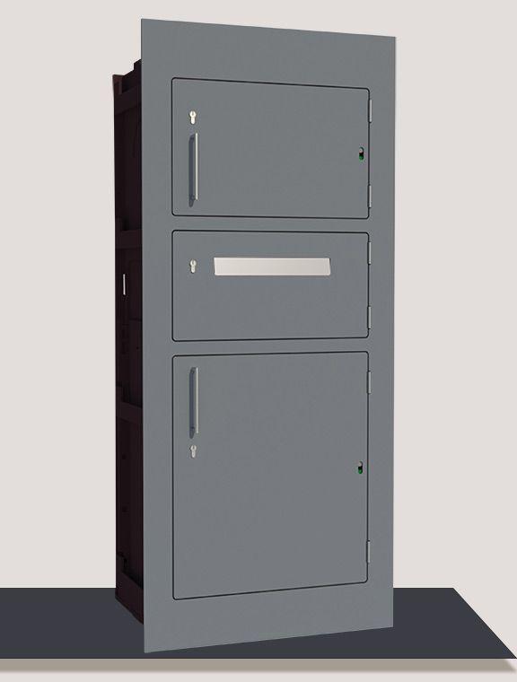 Paketbriefkasten Der In Eine Mauer Oder Wand Integriert Wird Mauerdurchwurf Paketkasten Paketkasten Paketbriefkasten Briefkasten Mit Paketfach