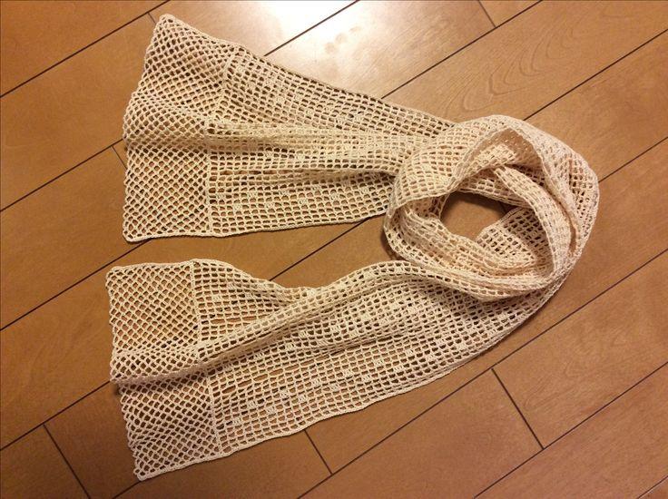 harumiさまに編んでいただいた方眼編みのレーシーストールです。 方眼編みのレーシーストールの編み図は、↓からどうぞ^^ → 方眼編みのレ...