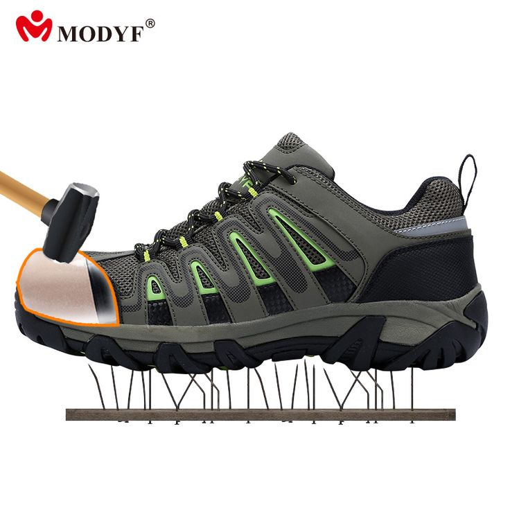 Modyf outdoor shoes for Men steel toe cap safety shoes breaathble climbing footwear anti-smashing puncture proof shoes #Affiliate