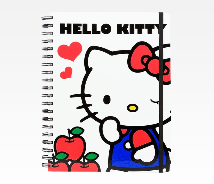 Jotting down notes and homework assignments are much more fun with Hello Kitty notebooks!