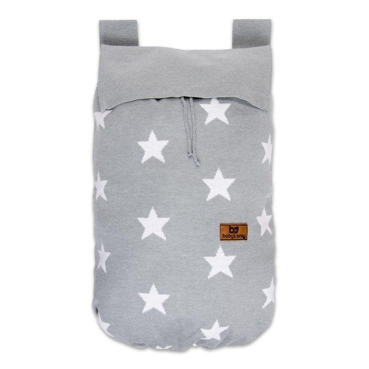 Baby's Only opbergzak ster licht grijs / wit uit de online shop van Babyaccessoires.eu. In allerlei kleuren.