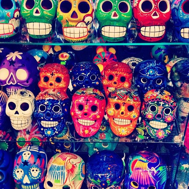 Colorful Sugar skulls