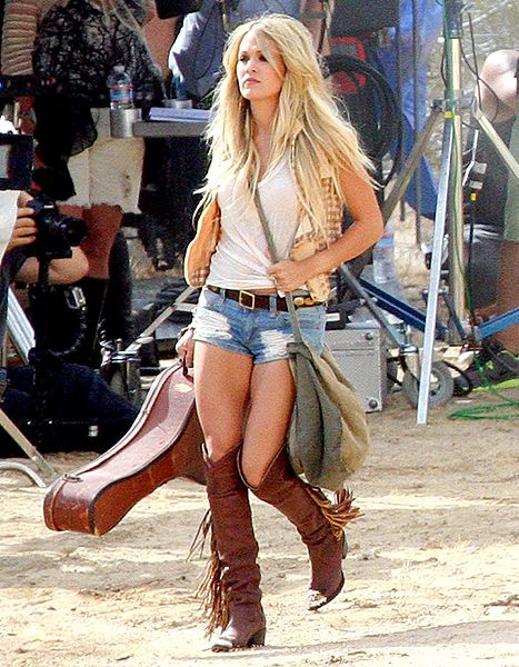 Carrie Underwood's Legs Are Still So Fierce Filming Music Video: Pics - Us Weekly
