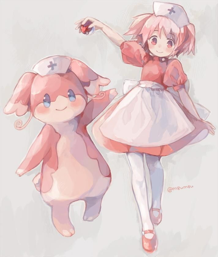 Amazing girl! Pokemon hentai nurse joy manga for him!