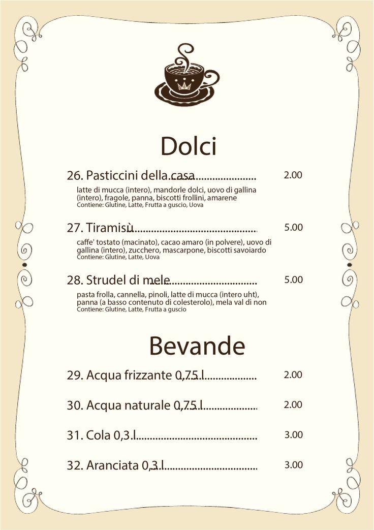 Nuova grafica per le stampe del tuo #menù #myfood Il menù per #bar, #pasticcerie, #gelaterie, #caffetterie Scopri di più su http://myfood.okkam.it/  #myfoodOK #allergeni #menuonline #graficamenu
