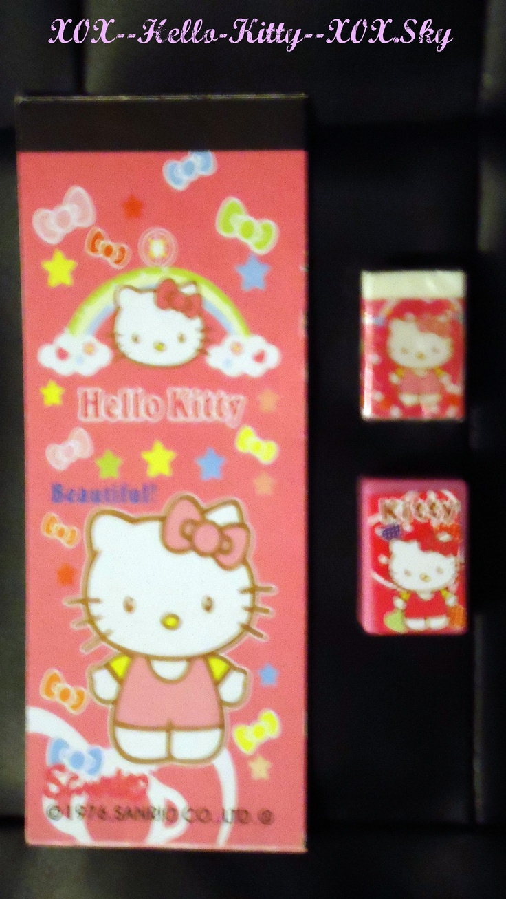 Livret D'autocollants, Gomme A Effacer & Taille Crayon Hello Kitty