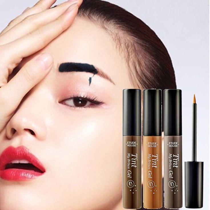 Korean Beauty Brand Makeup Brow Tint Enhancer My Brow Gel Waterproof Black Brown Peel Off Henna Eyebrow Gel Tattoo Eyebrow Cream