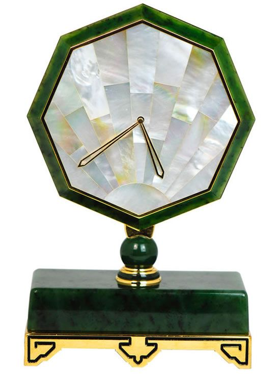 Antique Cartier Desk Clock.  @Fritillaria - Remember how obsessed we were over the vintage Cartier clocks?