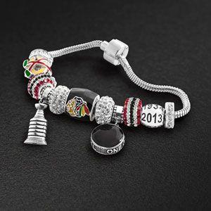 Chicago Blackhawks® Championship Fan Collection - Blackhawks Bead Bracelet